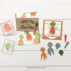Concord And 9th, Our Friendship, Die Cutting, Farms, Apples, Carrots, Stamping, Card Making, Love You