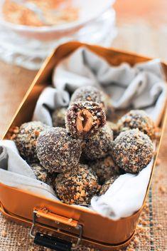 trufas ferrero rocher saudável | healthy ferrero rocher truffles