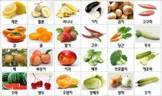 지난번에 자석 낱말카드 만들기 포스팅을 한 이후에 자료 요청을 하신분들이 계셔서 이렇게 별도로 포스팅을 올립니다. 일부 자료는 잘려서 보이지 않지만 아래와 같이 과일, 악기, 동물등이 포함 되어 있습니다... Bilingual Education, Learn Korean, Korean Language, Fruit, Vegetables, Food, Korean Cuisine, Vegetable Recipes, Eten