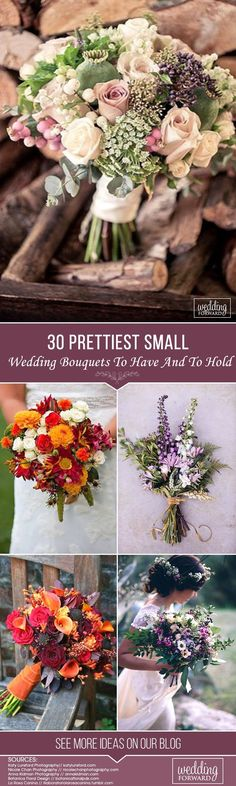 The bridal bouquet is an essential part of wedding decor. It is so difficult to decide which one to choose, because bouquets have so many colors, textures, styles and designs. Your wedding bouquet must perfectly accent your bridal style. Look at the small wedding bouquets because they have the ability to do this excellent too. #weddingforward #wedding #bride #weddingbouquet #smallweddingbouquets