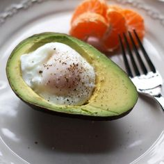 Poached Egg in an Avocado | If you love eggs and avocado, then you'll love combining the two into this heart-healthy breakfast. It's easy to prepare and gives you the boost of energy you need to start your day. | CookingLight.com