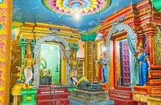 colorful hindu temple - Google Search Asian Architecture, Hindu Temple, Fair Grounds, Painting, Colorful, Google Search, Art, Art Background, Painting Art