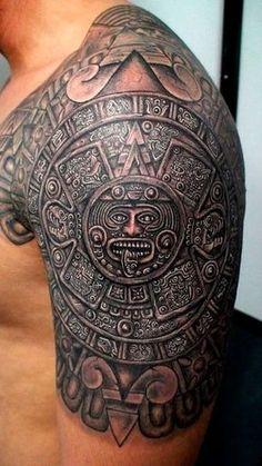 tatuajes de simbolos mayas en el brazo