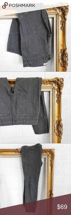 Free people moto style jeans Super chic! All photos are my own of the actual item. No trades. All prices are flexible, make me an offer! Free People Jeans
