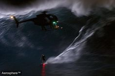 Ok, sign us up for that now. Night flying in monster waves, and everyones cranking position lights. Thats awesome.  Mark Visser's 2am Tow In At Jaws.