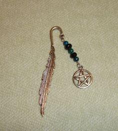 Handmade Wiccan Pentagram bookmark