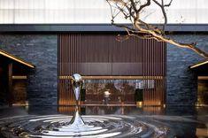 上海万科—UNI-CITY天空之城 sculpture Landscape Elements, Landscape Design, Facade Architecture, Landscape Architecture, Ancient Chinese Architecture, Lobby Interior, Chinese Design, Entrance Design, Hotel Interiors