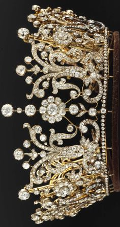 Fabulously large pic of the Poltimore Tiara, originally made by Garrard for Florence, Lady Poltimore, wife of the second Baron Poltimore, in the 1870s, ..Christies