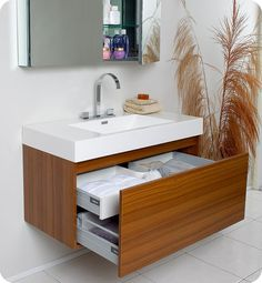 Fresca Mezzo Teak Modern Bathroom Cabinet for the ensuite