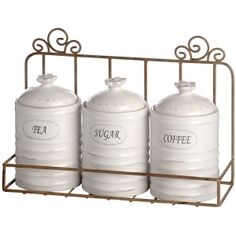 Ceramic Farm Design Erel Tea Coffee Sugar Canisters Set Preview Pinterest Food Storage And Teas