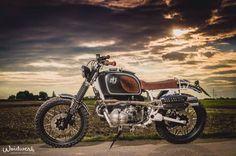 "BMW R100RT Scrambler ""MAX & JOSEF"" by Woidwerk #motorcycles #scrambler #motos | caferacerpasion.com"