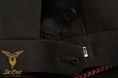 Black Spot English Mohair Wedding Suit 3-piece Black Spot English Mohair Trouwkostuum 3-delig