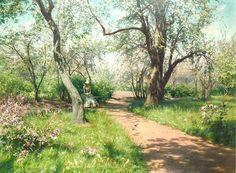 Johan Krouthén - Spring in the Garden (1889)
