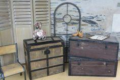 Anciennes malles... www.grisgroseille.com