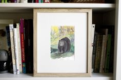 Excited to share the latest addition to my #etsy shop: Buttonwood Bear #art #drawing #bear #zoo #animal #kid #watercolor #print #original
