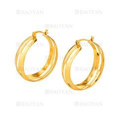 11*35MM aretes de dorado en acero-SSEGG264429