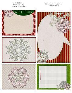 Free, printable snowflake journal cards...