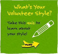 What your volunteer style, for kids!