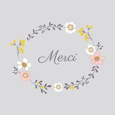 carte de remerciement Couronne de fleurs photo by Mr & Mrs Clynk pour www.fairepartnaissance.fr #rosemood