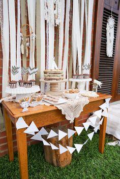 Tribal Teepee Party Dessert Table #TribalFoodIdeas #TribalDessertTable