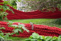 Orly Genger's Rope Art Installation in Madison Square Park