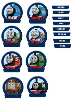 Thomas and Friends name that train printable DIY game
