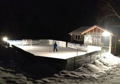 Great story with account of people's own back yard rink builds.