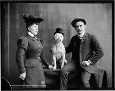 Mr. and Mrs. Frank Kern and their trained dog Bobbie, ca. 1905 | Flickr - Photo Sharing!
