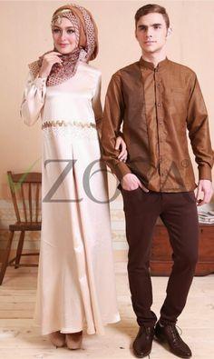 Kebaya Muslimah Biru Toska Kombinasi Pink Brokat Lace
