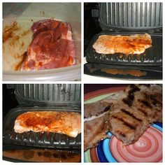 Spicy Grilled Pork Chops on your George Foreman Grill