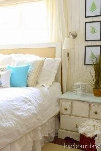 Peaceful beach-themed guest room #beach #guestroom