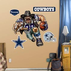 Fathead Dallas Cowboys Crusher Wall Graphic - Wall Sticker Outlet