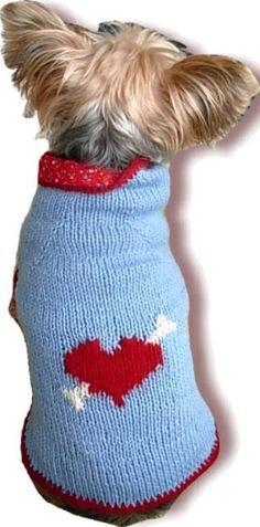 Free knitting pattern for dog sweater