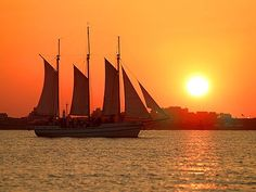Charleston Harbor at sunset....