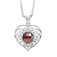 KP031 - Pendant Filligree Heart shown with KJP165 Beaujolais JewelPop