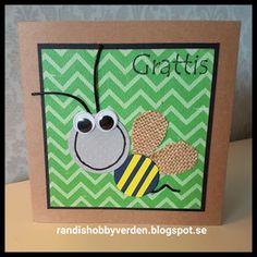 Randis hobbyverden: Grattiskort med en söt bie