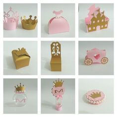 Kit Festa Princesa   Saia para Cupcake , 1,00 * 10 = R$10,00  Caixa Vestido da Princesa , 2,20 * 10 = R$22,00  Caixa Castelo , 3,10 * 10 =R$31,00  Caixa Coroa , 1,80 * 10 = R$18,00  Caixa Cadeira da Princesa, 2,20 * 10 = R$22,00  Carruagem, 3,50 * 10 = R$35,00  Baleiro, 2,20 * 10 = R$22,00  Tubete, 2,20 * 10 = R$22,00  Latinha, 1,60 * 10 = 16,00   Total = R$198,00     Consulte-nos caso deseje customizar o produto, nosso objetivo é atender ...