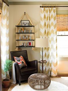 Chevron Striped Curtain Panels