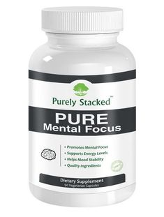PURE Mental Focus - Brain Supplement - All Natural Advanced Quality Formulated Cognitive Enhancement - With FREE E-Book - Enhance Cognition, Concentration, Mental Health, Clarity - Improve - Memory, Attention, Motivation, Study, Mood - Increase Alertness and Energy - Help Procrastination, ADD, ADHD, Fatigue & Brain Fog with the Best Smart Mind Boosting Nootropic*. Brain Food 90 Vegetarian Capsules - Maximum Strength formula comes with a 100% No Risk Satisfaction Guarantee! 20% Off Sale! ...