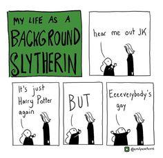 My life as a backround Slytherin/Harry Potter/funny