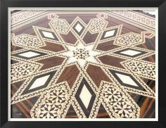 TARACEA Decoupage Table, Parquetry, Moroccan Decor, Wooden Flooring, Wood Wall Art, Decoration, Mandala, Images, Carving