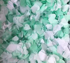 Mint Biodegradable Confetti Green & White Wedding Eco Friendly up to 10 cones   | eBay