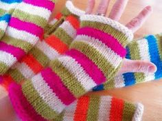 Pattern: Striped Hand Warmers