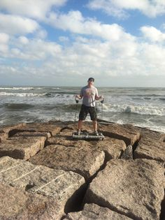 Check out Greg Hartle getting a workout at the Gulf of Mexico! Bring your journey gym anywhere to get in a workout