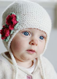 gorgeous hat and baby