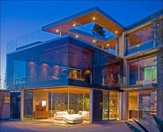 Seattle glass house, Love It  but I love my privacy as well so i would cover up some what... =)