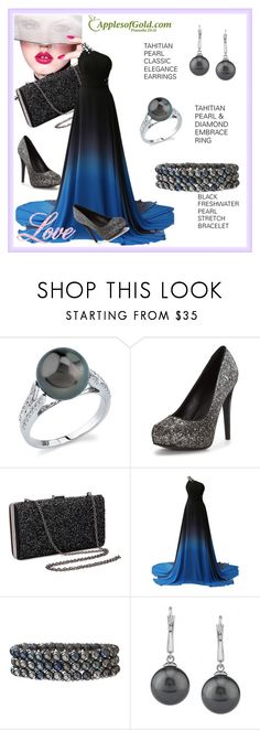 """""""Tahitian Pearl from Apples of Gold Jewelry"""" by samra-dzabija ❤ liked on Polyvore"""