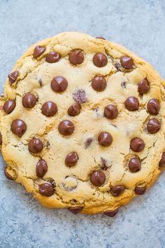 One-Bowl, No-Mixer, No-Chill, Extra-Large Chocolate Chip Cookie For One - An incredibly FAST and EASY recipe that produces ONE extra-large soft and chewy cookie that's loaded with chocolate!! One bowl to wash, no mixer, and no waiting!!