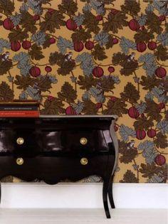 Cole & Son Frutto Proibito from the Fornasetti Collection Devon House, Hall Wallpaper, Cole And Son, Victorian Homes, Dark Wood, Garden Design, Restoration, The Originals, Woods