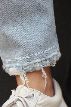 Heartbreaker | Embroidery | Denim Embroidery | Embroidered Denim | Jeans | Converse | Embroidered Hem